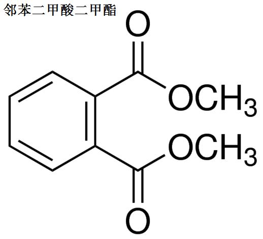 邻苯二甲酸二甲酯 分子结构式
