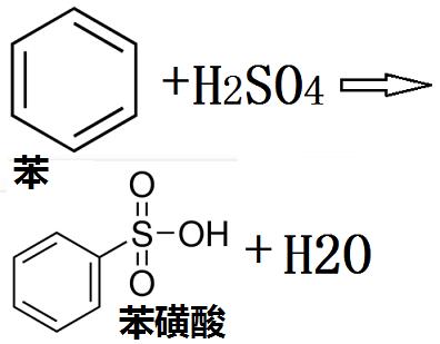 苯与浓硫酸共热生成苯磺酸的化学反应式