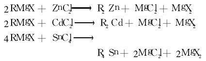制备其他金属有机化合物反应式