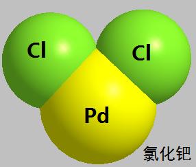 氯化钯 分子结构式