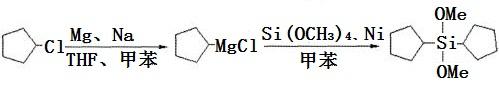 合成二环戊基二甲氧基硅烷反应式