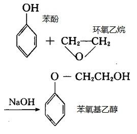 人工合成苯氧乙醇的化学反应路线图