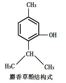 麝香草酚的结构式