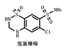 氢氯噻嗪结构式
