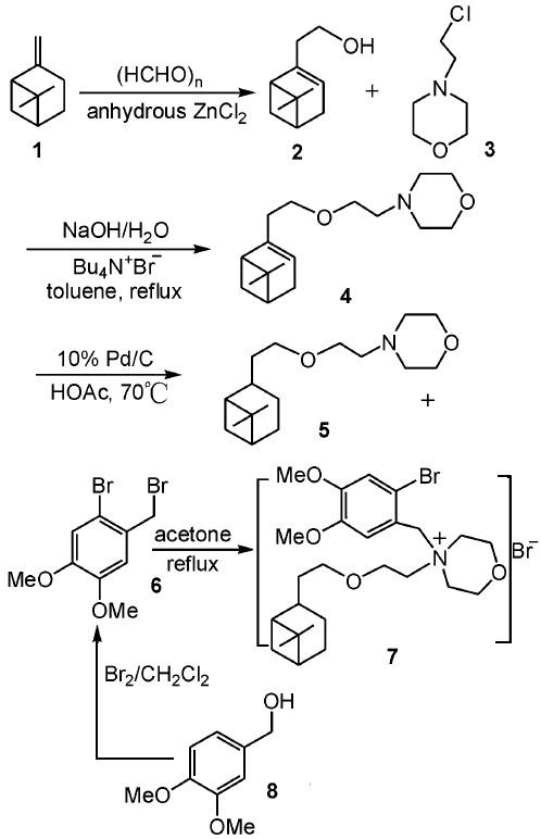 匹维溴铵的合成路线