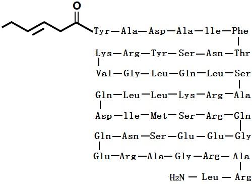 替莫瑞林化学结构式