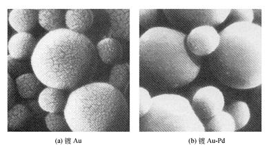 塑胶球镀膜后的形貌