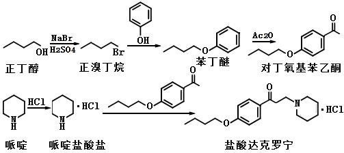 盐酸达克罗宁的合成路线