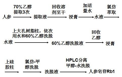 人参皂苷Rb1的提取分离方法