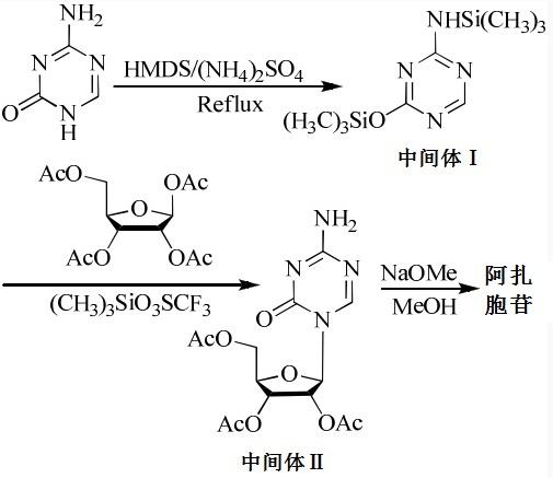 阿扎胞苷的合成路线