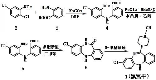 氯氮平的合成路线