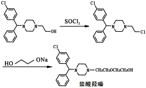 盐酸羟嗪的合成路线