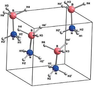 氨硼烷立体结构图