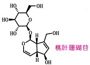 桃叶珊瑚苷结构式