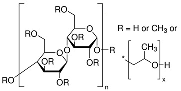 The molecular structure of hydroxypropyl methyl cellulose
