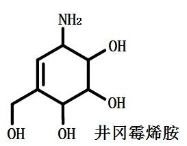 井冈霉烯胺的结构式