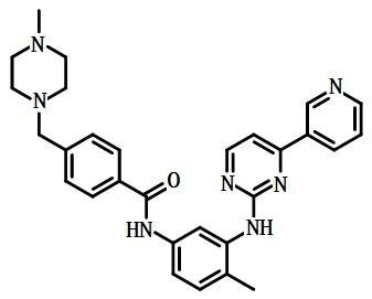 甲磺酸伊马替尼的结构式