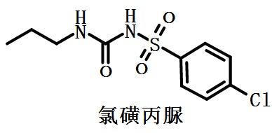 氯磺丙脲的结构式