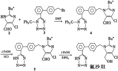 氟沙坦的合成路线