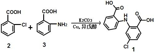 氯苯扎利的合成路线图