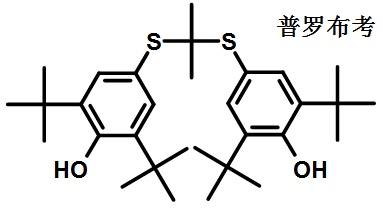 普罗布考的结构式