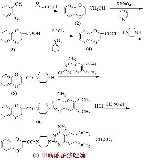 甲磺酸多沙唑嗪的合成路线