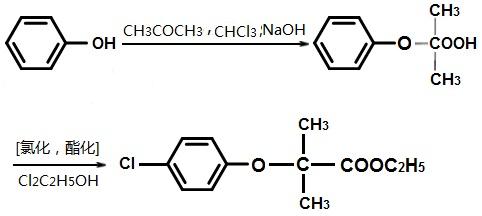 氯贝丁酯的合成路线