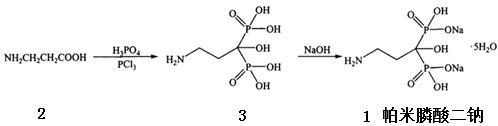 帕米膦酸二钠的合成路线