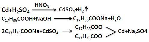 制备硬脂酸镉的反应式