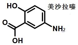 美沙拉嗪的结构式