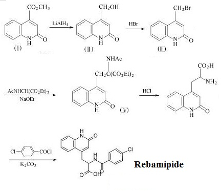The synthetic route of Rebamipide
