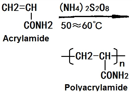 The synthetic route of polyacrylamide