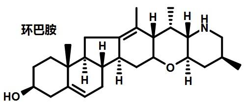 环巴胺的结构式