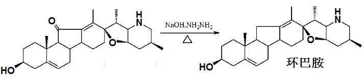 利用黄鸣龙反应制备环巴胺反应式