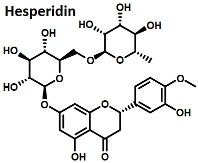 the molecular structure of hesperidin