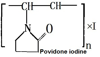 The molecular structure of povidone-iodine