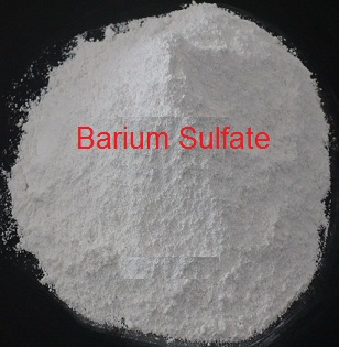 a white powder of barium sulfate