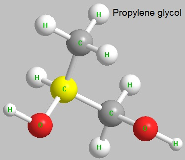 the molecular structure of propylene glycol