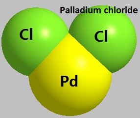 the molecular structure of Palladium chloride