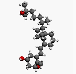 Calcitriol-dimensional molecular structure