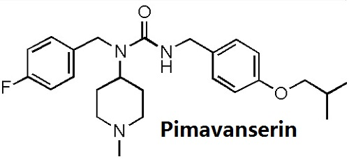 the chemical structure formula of Pimavanserin