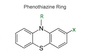 Chemical structure common to phenothiazines