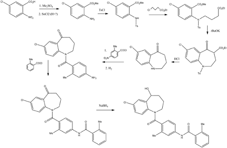 Synthesis of Tolvaptan