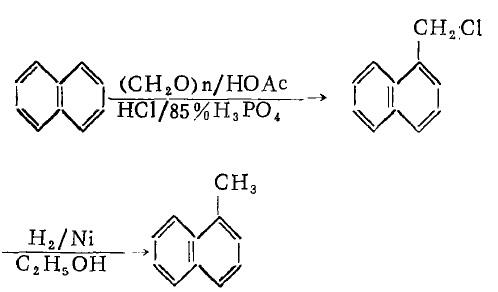 α-甲基萘合成的反应原理