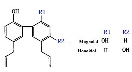 formula of magnolol and honokiol