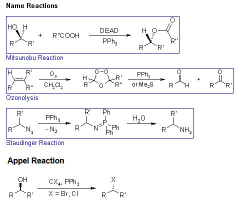 Name Reactions (Mitsunobu Ozonolysis  Staudinger Appel reactions)