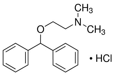 Diphenhydramine hydrochloride structural formula