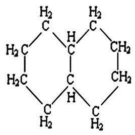 十氢萘分子结构图