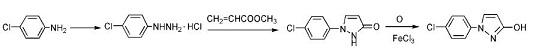中间体1-(4-氯苯基)-3-吡唑醇的制备