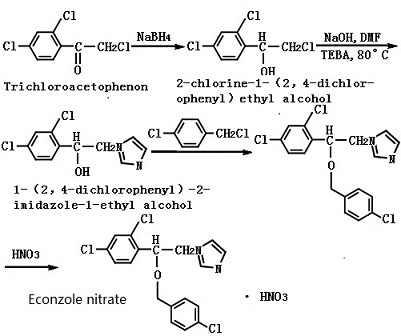 synthetic route of econazole nitrate